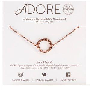 Adore Swarovski Organic Circle Bracelet rose gold